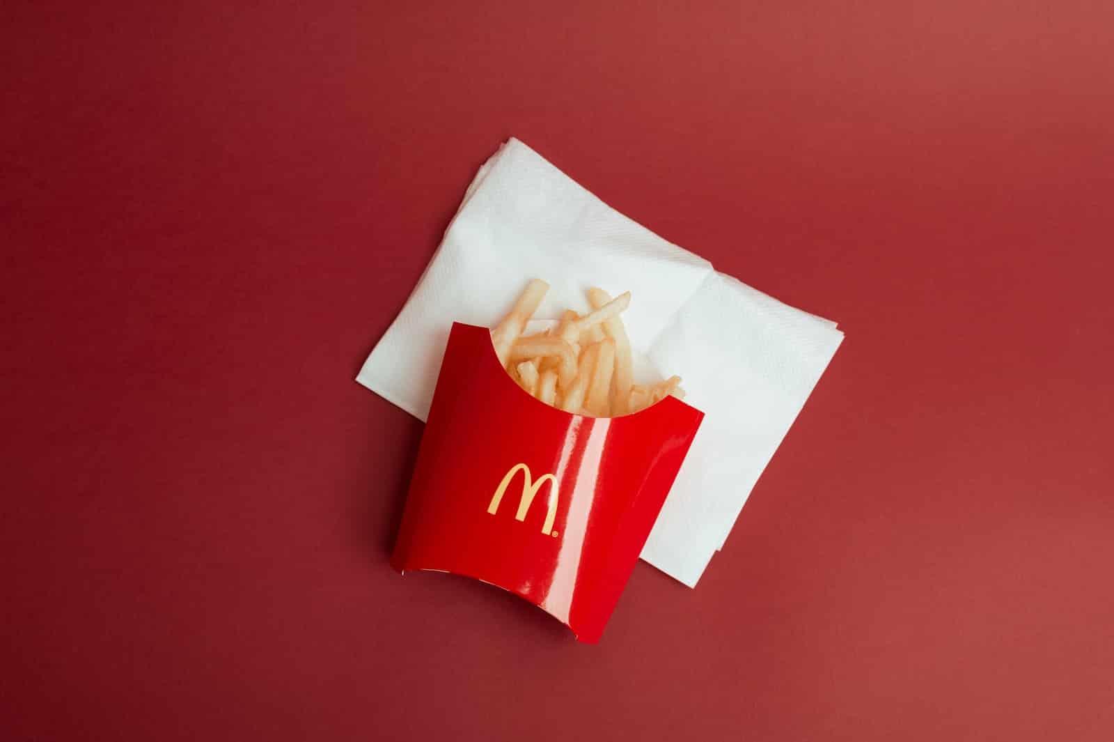 Esempio di giallo e rosso McDonald's