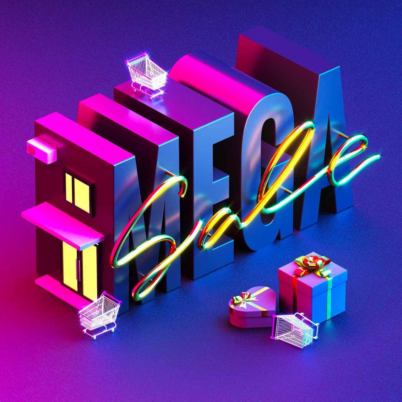 Esempio di font creativo