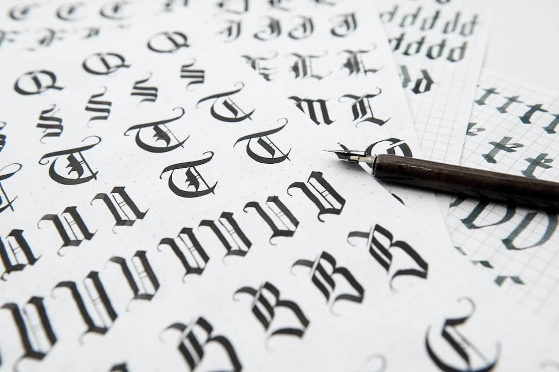Esempio di scrittura medievale