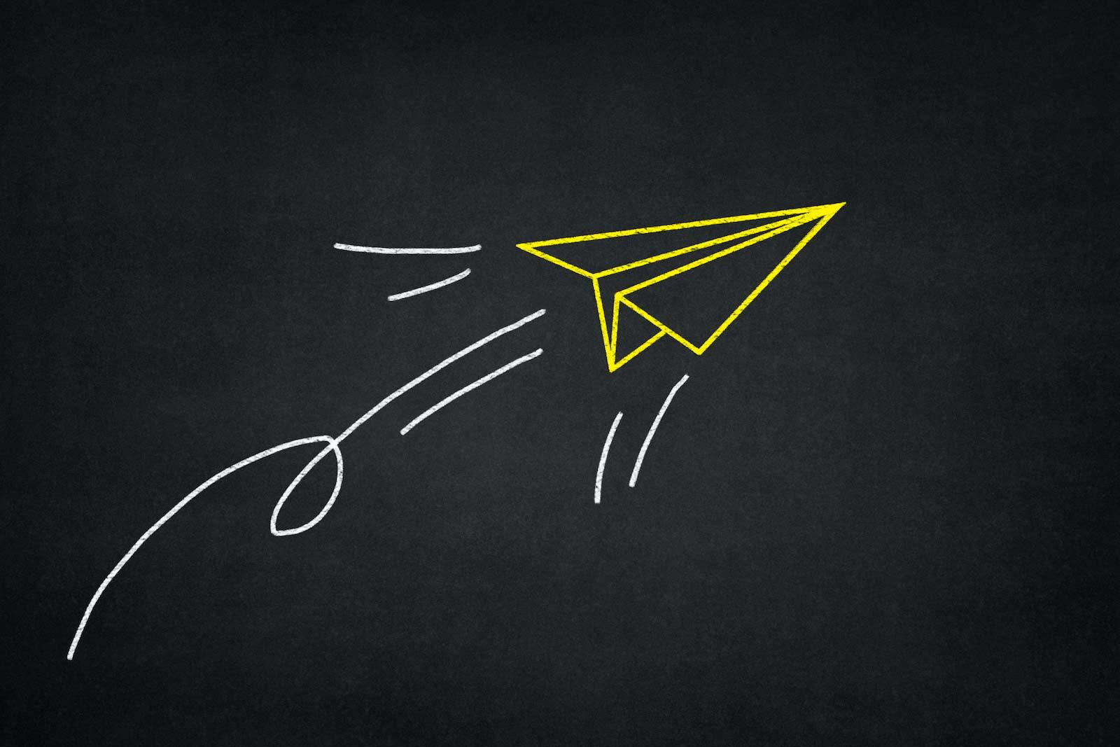 Illustrazione di un aeroplanino di carta