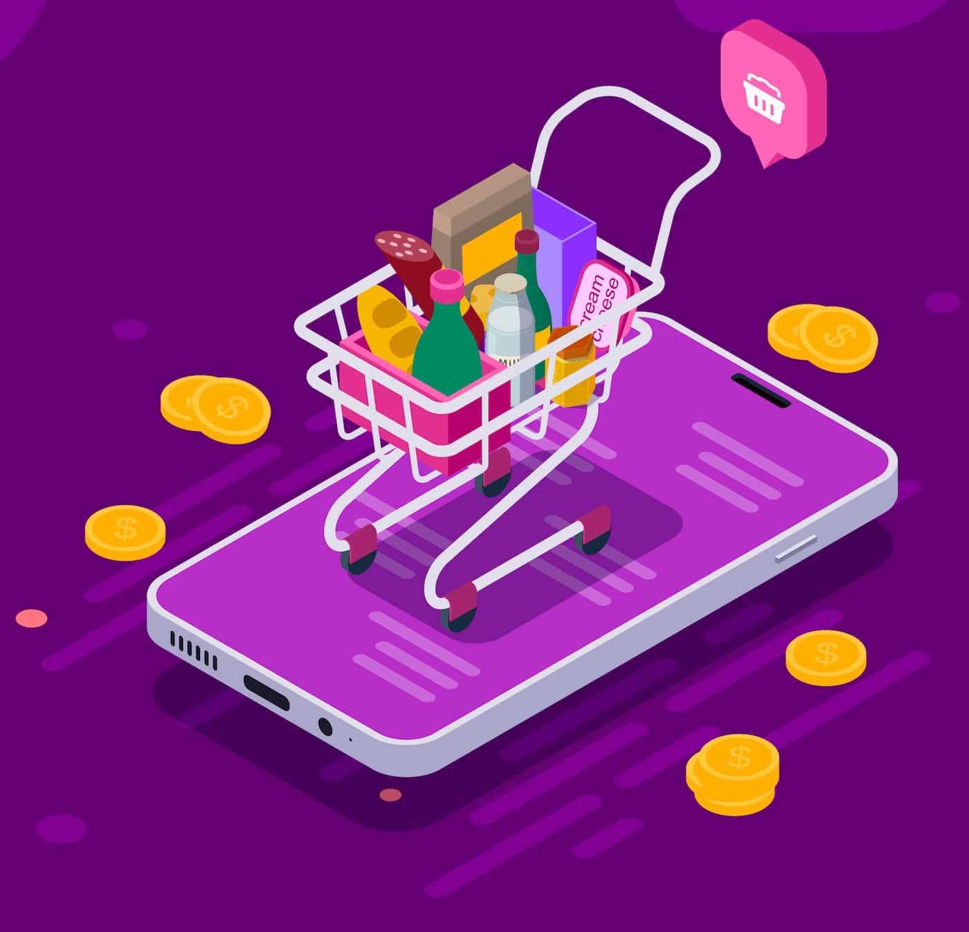 e-commerce per mobile